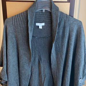 Charter Club gray sweater shaw XL
